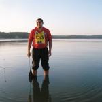 Čekam da vagam šarana a na jezeru bonaca