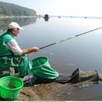 detalj sa medjunarodnog takmikcenja ribara na jezeru Modrac