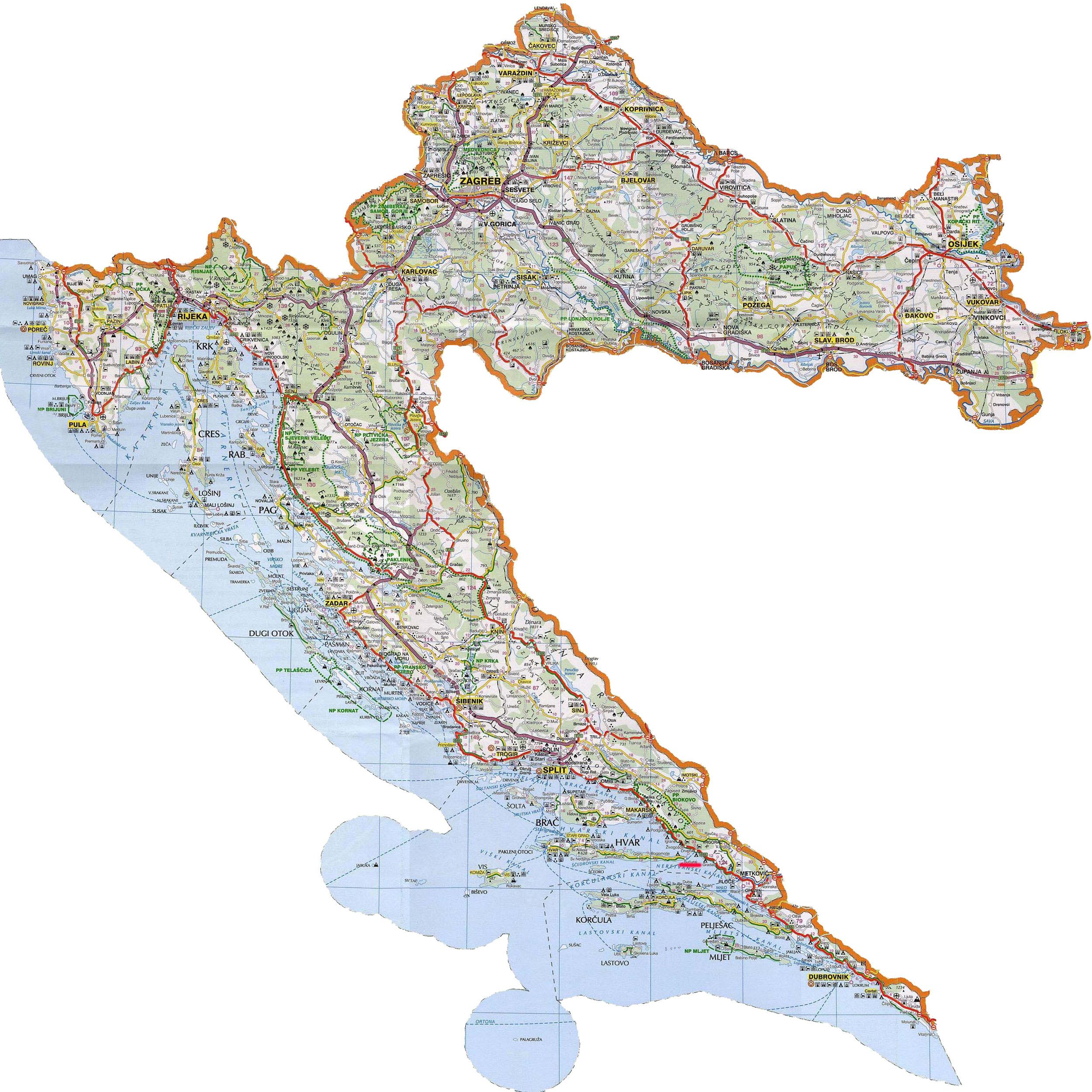auto karta srbije i hrvatske Auto karte zemalja iz regije | Portal o ribolovu i zaštiti okoline  auto karta srbije i hrvatske