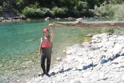 Reporter Dnevnog Avaza Ismet Bajrović u kanjonu rijeke Tare