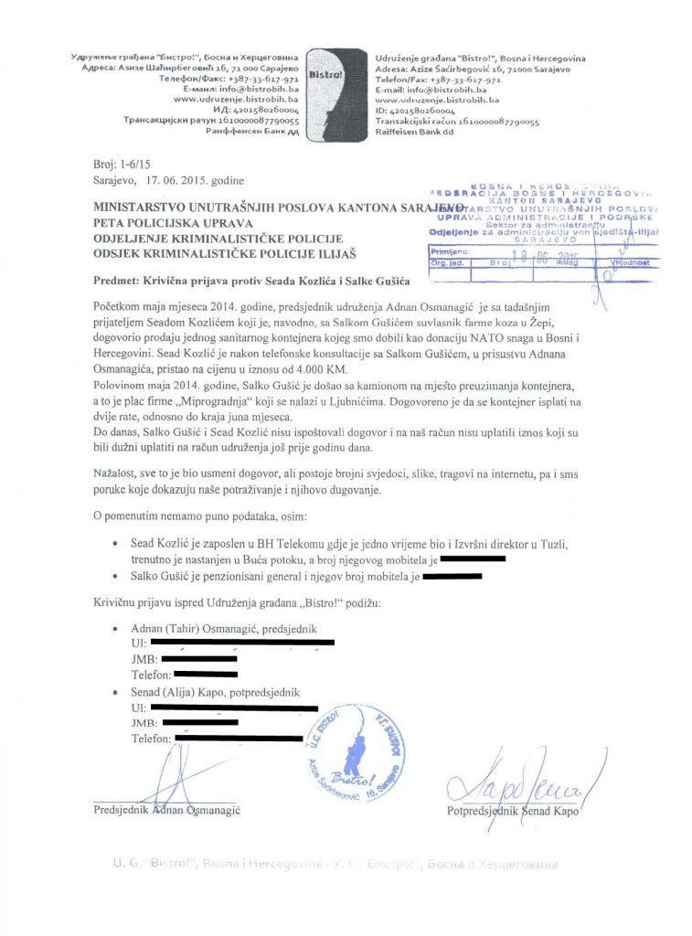 Krivicna-prijava-kontejner_Sead_Kozlic_Salko_Gusic
